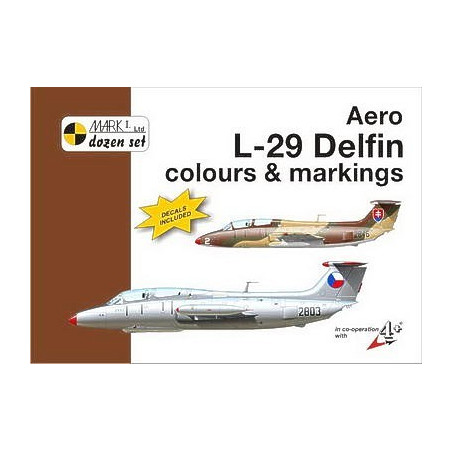 Aero L-29 Delfin colour and markings plus 1:48 decal
