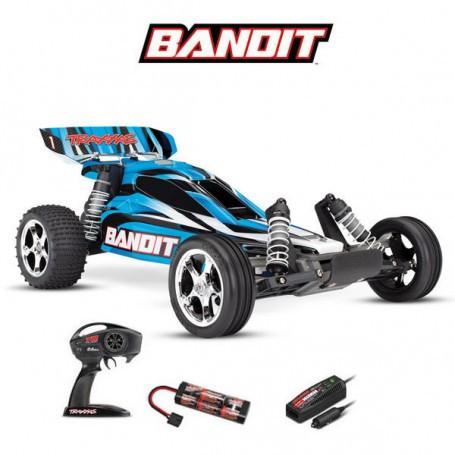 BANDIT 4x2 BRUSHED AVEC ACCUS/CHARGEUR TRAXXAS 24054-1-BLUEX