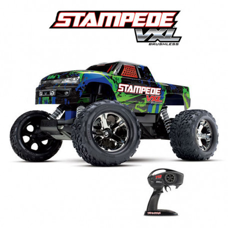 STAMPEDE 4X2 BRUSHLESS TRAXXAS 36076-4-GRN