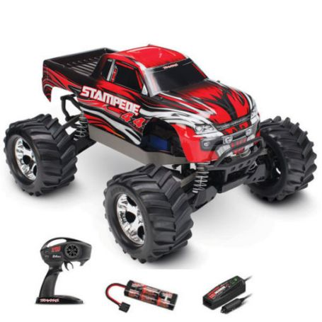 STAMPEDE 4x4 - 1/10 BRUSHED TQ 2.4GHZ - iD TRAXXAS 67054-1-RED