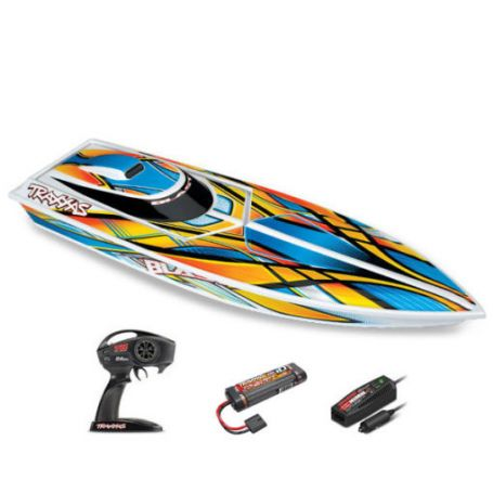 BLAST OFFSHORE AVEC ACCUS/CHARGEUR TRAXXAS 38104-1-ORNG