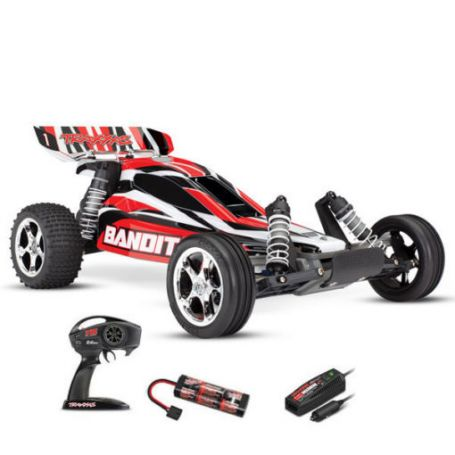 BANDIT 4x2 BRUSHED AVEC ACCUS/CHARGEUR TRAXXAS 24054-1-REDX