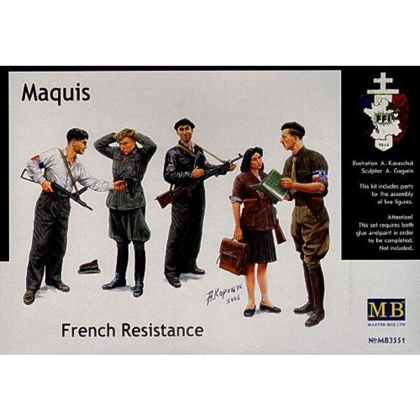 Résistants français et fantassin allemand capturé