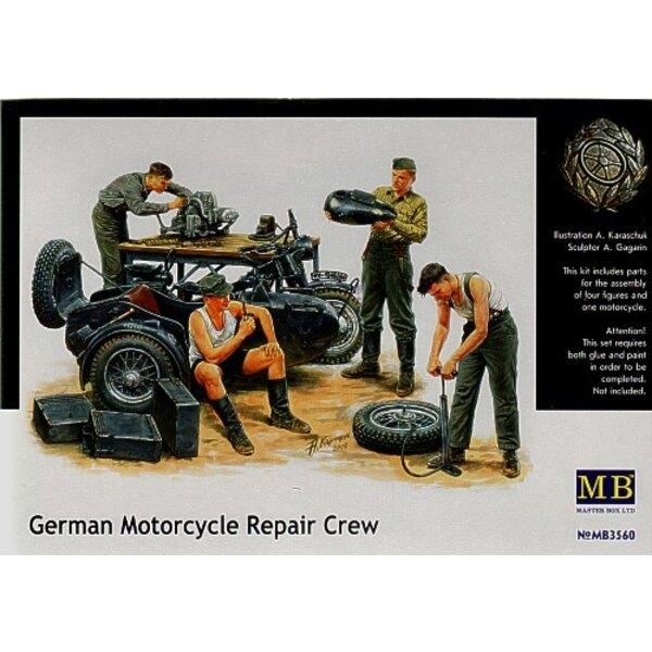 German Motorcycle Repair Crew