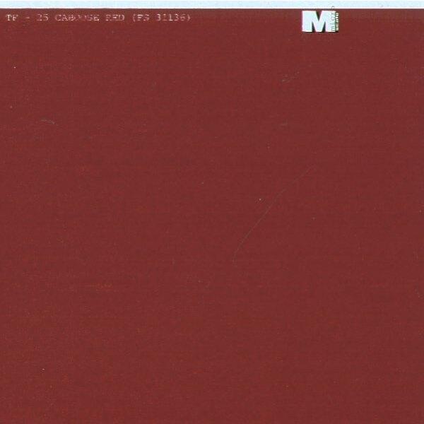 Film à découper rouge caboose - le film peut être peint