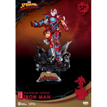 Marvel Comics diorama PVC D-Stage Maximum Venom Iron Man Special Edition 16 cm Beast Kingdom Toys BKDDS-066SP