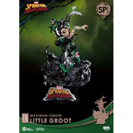 Marvel Comics diorama PVC D-Stage Maximum Venom Little Groot Special Edition 16 cm Beast Kingdom Toys BKDDS-068SP