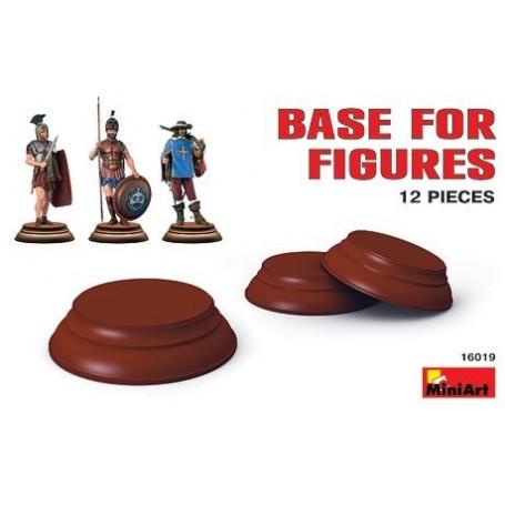 Socles pour figurines 1:16 x 12