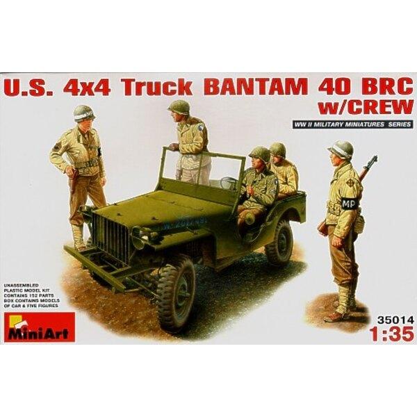 US 4x4 Bantam Jeep 40 BRC avec équipage