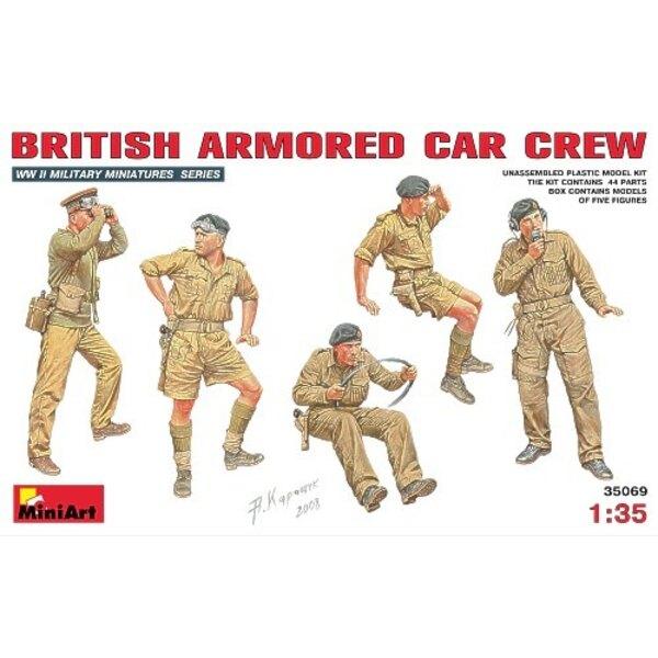 Équipage d'automitrailleuse britannique x 5