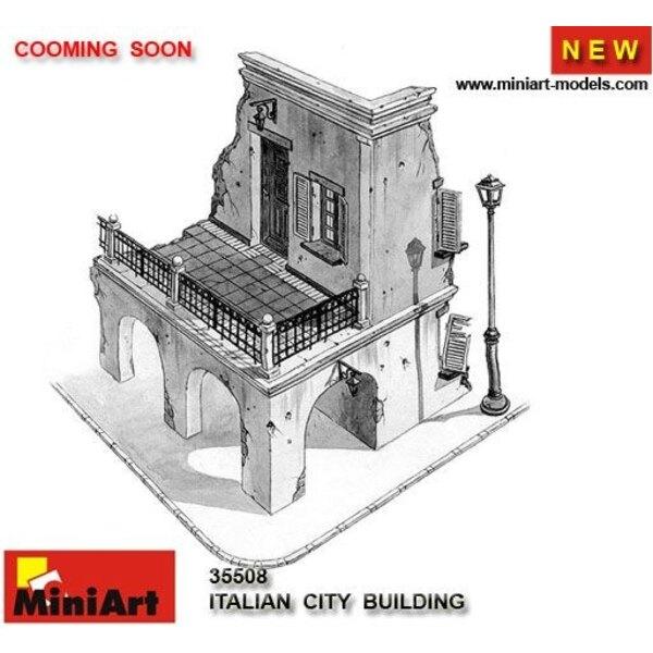 Bâtiment de ville italienne en ruine