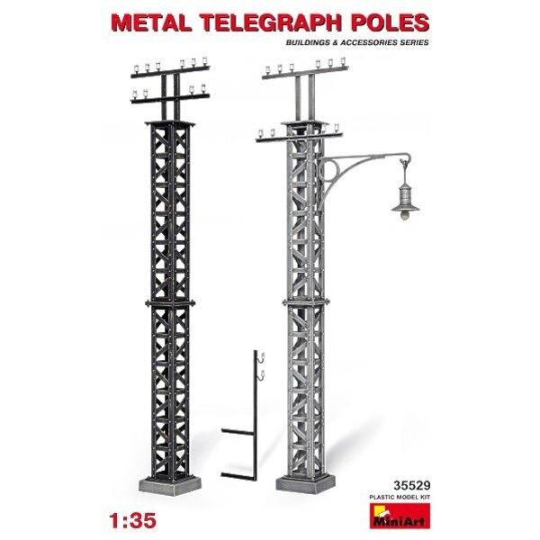 Poteaux télégraphiques en métal