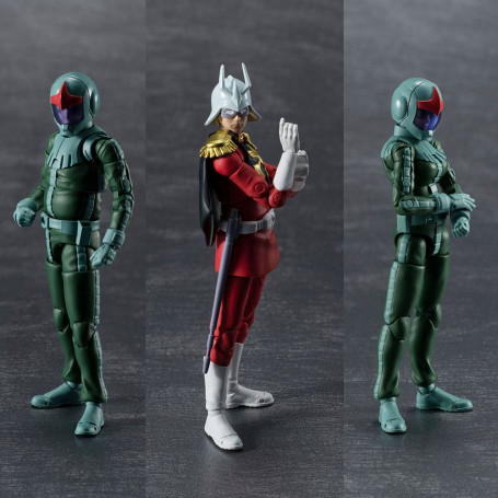 Mobile Suit Gundam pack 3 figurines G.M.G. Principality of Zeon Army Soldiers 10 cm Megahouse MEHO831768