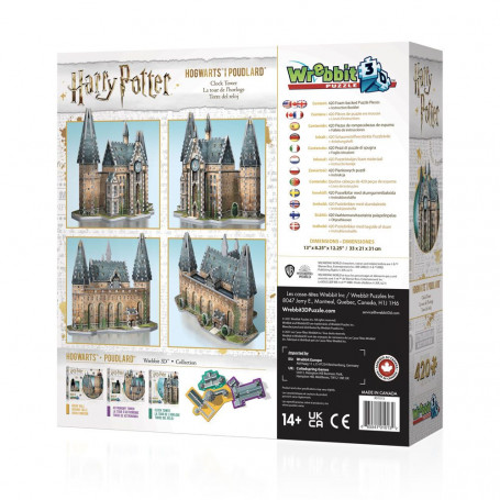 Harry Potter Puzzle 3D Tour de l'Horloge (420 pièces) Wrebbit Puzzle WP-W3D-1013
