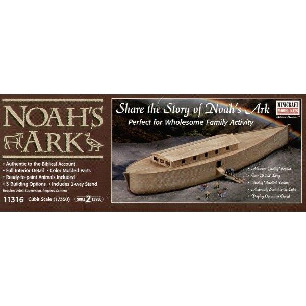 L'Arche de Noé avec figurine de Noé et les animaux