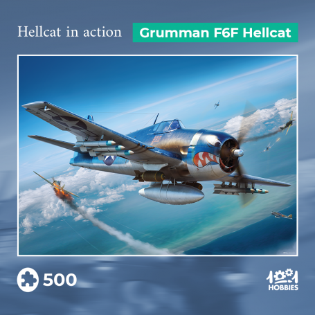 Puzzle Hellcat in action - Grumman F6F Hellcat 1001hobbies PZ500 – AVIA01