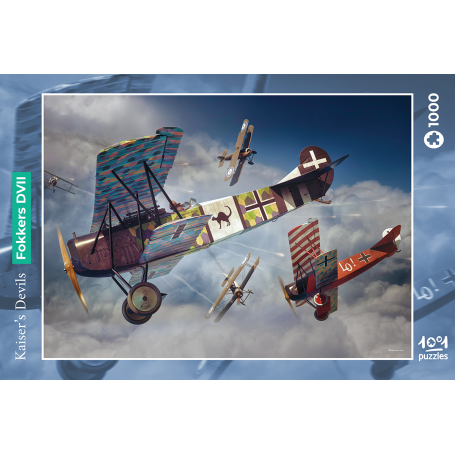 Puzzle Kaiser's Devils - Fokkers DVII 1001hobbies PZ1000 – AVIA01