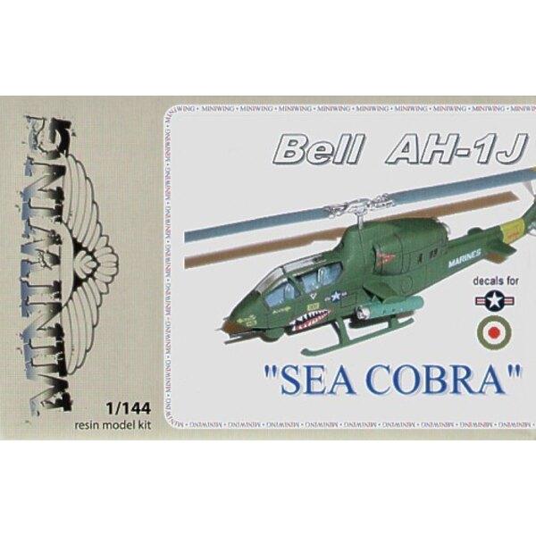 """Bell AH-1J SEA COBRA"""". Décalques US Marines et Iran (ex FE Resin)"""