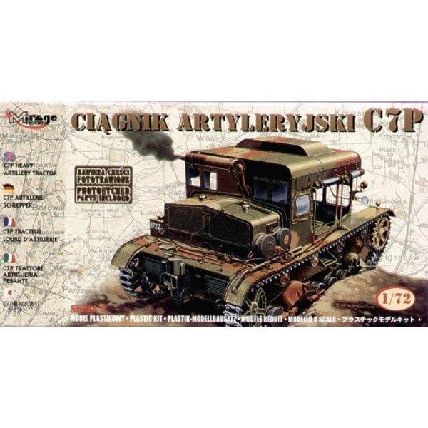 Tracteur lourd d'artillerie C7P avec pièces photodécoupées
