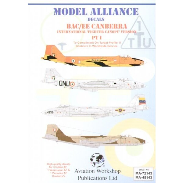 BAC/EE Canberra Part 1. B(1)58 `Fighter Canopy' versions in Foreign Service (5) IF922 No 1 Target Towing Unit 1990 Orange/Red Up
