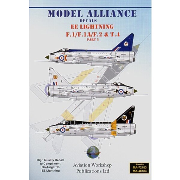 Décal BAC/EE Lightning F.1/F.1A/F.2 & T.4 Part 5