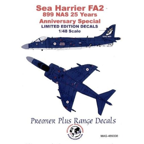 BAe Sea Harrier FA.2 (1) ZH809 899 NAS 25th Anniversary special Overall blue with white undersurfaces