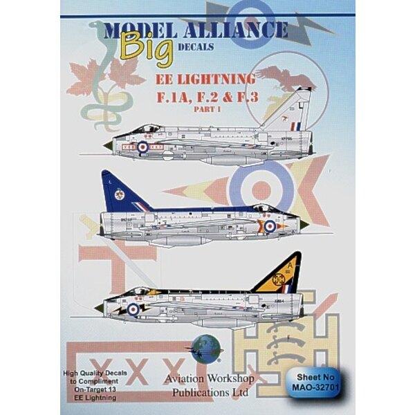 Décal BAC/EE Lightning F.1A F.2 & F.3 Part 1 (4) F.1A XM215/469 226 Op Conversion Unit (145 Sqn0 1969 XM184A 111 Sqn RAF Wattish