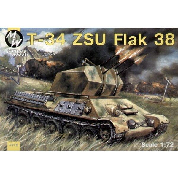 T-34/85 capturé et converti en ZSU Flak 38 - Allemagne 1942