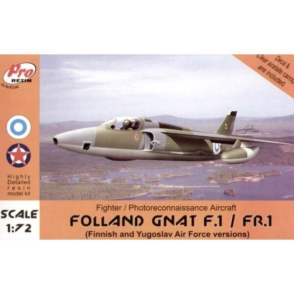 Folland Gnat F.1/FR.1. Décalques aviation Yougoslave 1958 et aviation finlandaise 1970.