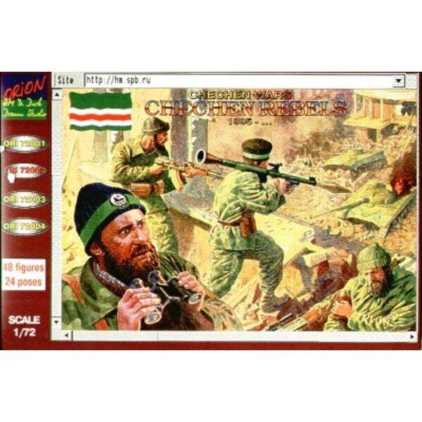 Guerres tchétchènes. Rebelles tchétchènes après 1995. 48 figurines. 24 poses