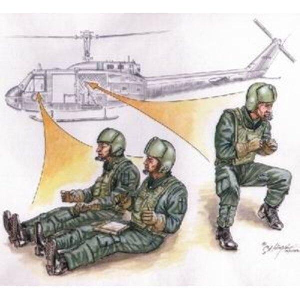 3 équipage d'hélicoptère US ViêtNam