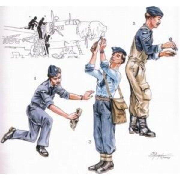 Mécaniciens de la RAF pour Vickers Wellington x 3