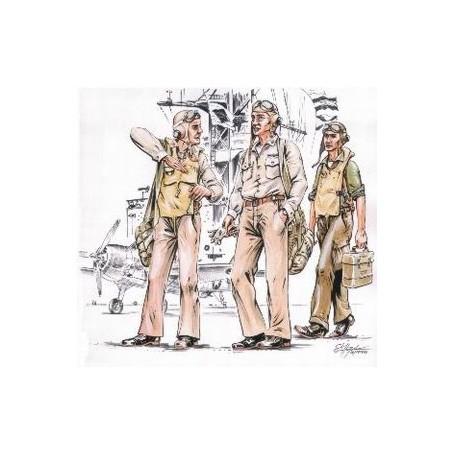 Pilotes US Navy 2ème GM x 3