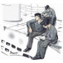 3 figurines d'équipage au repos pour u-boot type viic (pour maquettes revell)