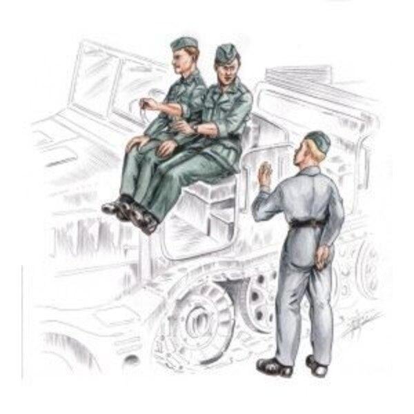 conducteur allemand & personnel pour FAMO (3 figurines)