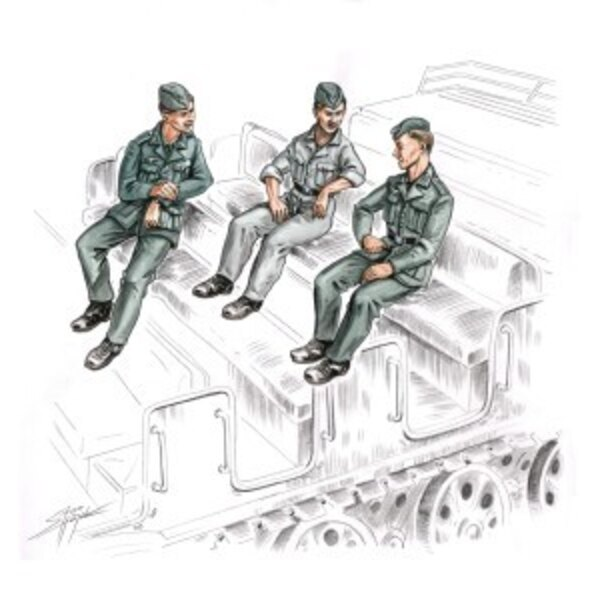 German Soldiers for FAMO (3 figures)