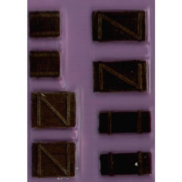 Caisses en Bois x 8 - taille pour figurines 28 mm (Approx 1:48)
