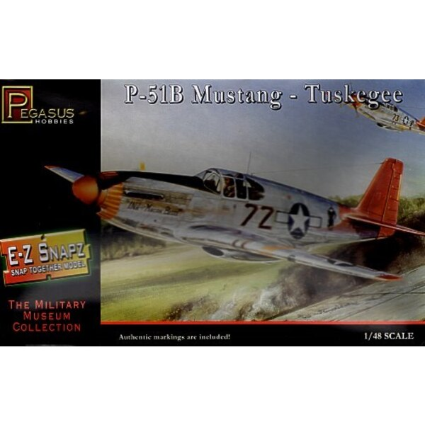 North American P-51B Mustang : Aviateurs de Tuskegee (à clipser - snap together)
