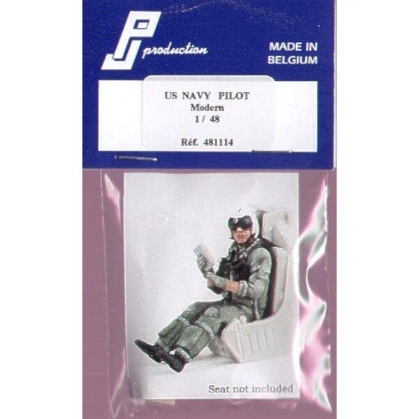 1 pilote de chasse de l'US Navy moderne assis