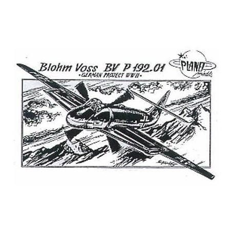 Blohm und Voss Bv P.192/01 (avec hélice au milieu du fuselage)