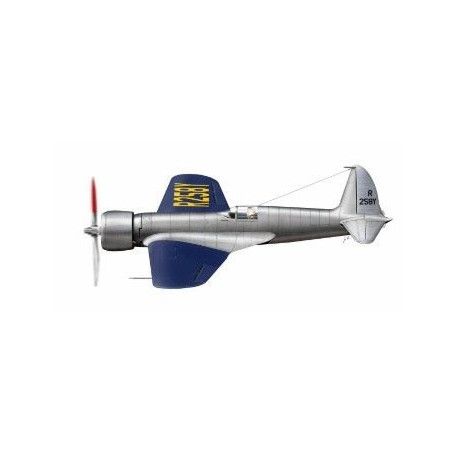Hughes H-1 Racer avec aile longue version. Maquette entièrement en résine de l'avion de course de H.Hughes. Il a battu le record