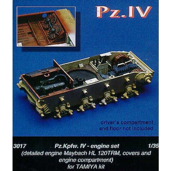 couvertures motrices et compartiment moteur Maybach HL 120TRM de Pz. Kpfw. IV (pour maquettes Tamiya)