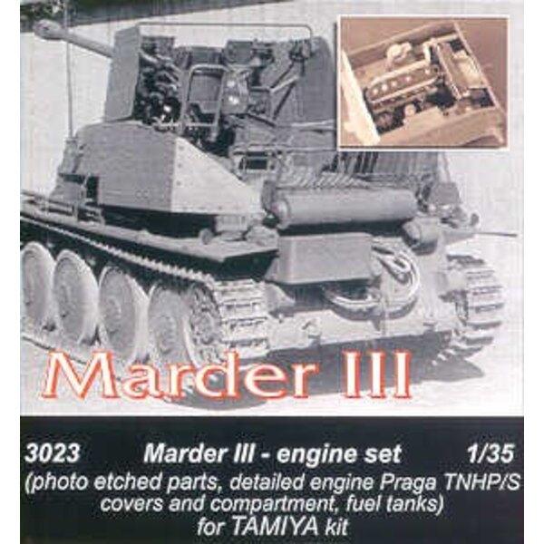 moteur de Marder III. Pièces photodécoupées de Praga TNHP/S les réservoirs à carburant (pour maquettes Tamiya)