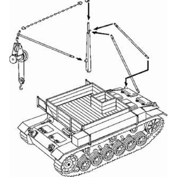 Bergepanzer III (designed to be assembled with model kits from Tamiya)
