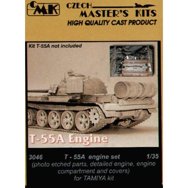 compartiment de moteur de T-55A et les couvertures (pour maquettes Tamiya)