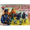 infanterie légère des royal marines britanniques (révolte des boxeurs 1900) 48 figurines 12 poses