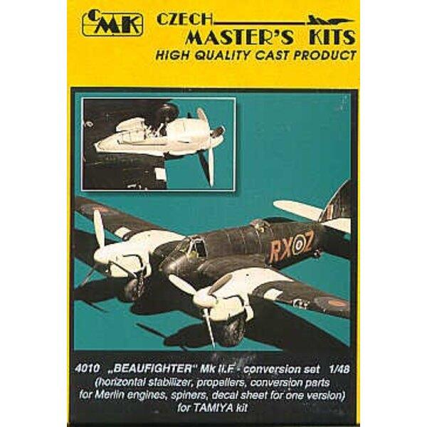 conversion de Bristol Beaufighter Mk.IIF (pour maquettes Tamiya) Inclut décalques de lettres
