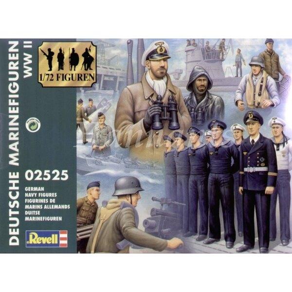 Figurines de marins allemands de la 2ème GM. 51 figurines dans une variété de poses et d'uniformes. L'idéal pour ajouter de la v