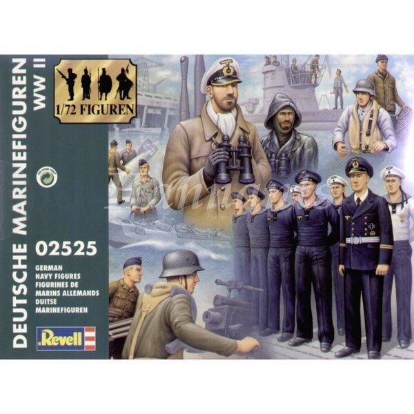 German Navy Figures WWII. 51 figures in a variety of poses and uniforms. Ideal for adding life to your E S & U Boats
