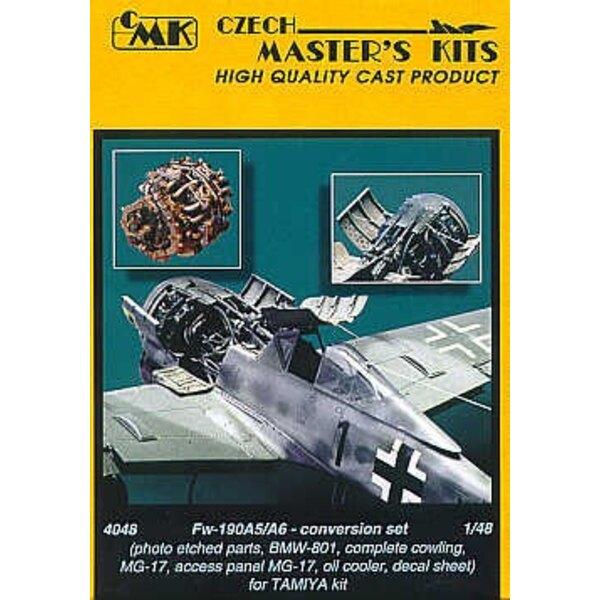 conversion de Focke Wulf Fw 190 A5/A6 (pour maquettes Tamiya) pièces photodécoupées pour BMW-801 MG 17 paneau d'accès, Mg 17 pla